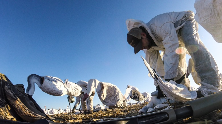 Snow Goose Hunting with Tyvek Painter Suits